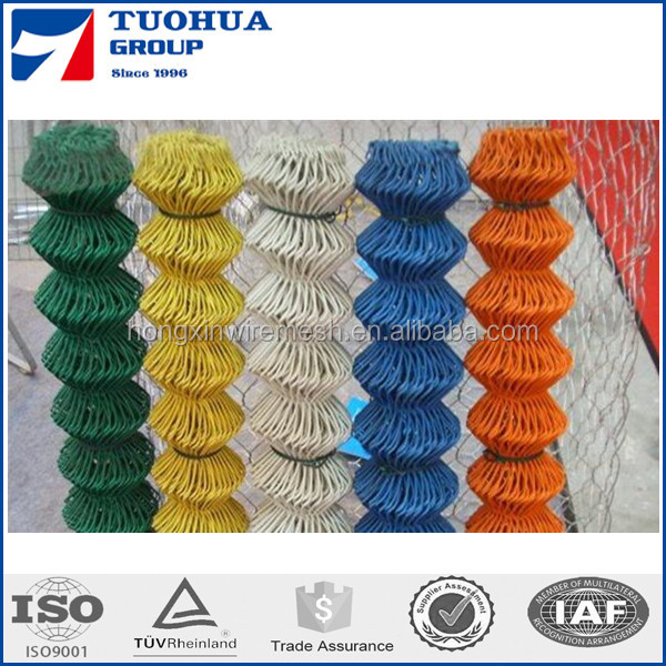 PVC Coated Protected Wire Mesh Chain Link Fence