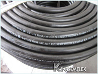 "5/8"" Black Contractor Rubber Water Hose with Spring Guards 200psi"