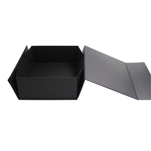 Wholesale Custom Logo Magnetic Flap Design Black Cardboard Shoe Box