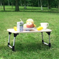 Kids Lap Small Wooden Portable Folding Picnic/Study/Dining Table For Indoor And Outdoor