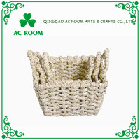 Practical Multifunctional small rush Baskets With Handles Wholesale