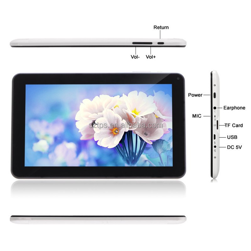 android tablet prices in pakistan 1+8gb 102*600ips 0.3+2.0 camera SOFIA 3GR pc tablet with DC jack tablet pc android 5.1