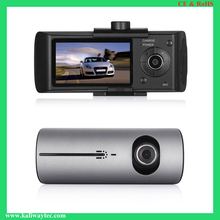 Dual lens GPS car dash cam pro gt300 front and rear with night vision car dash cam wi-fi