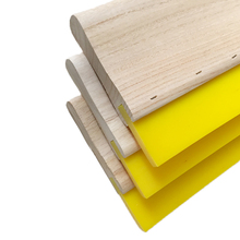 100% urethane wooden & aluminum holder 50*9mm textile silk screen printing squeegee blades roll