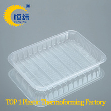 Pepper and cake plastic packaging tray with PP OPS ABS PET material fruit cherry packaging box