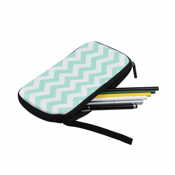 Personalized Cute Custom Print Neoprene Pencil Pouch With Zipper