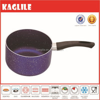 2015 OEM brand blue color marble coating cooking sauce pan