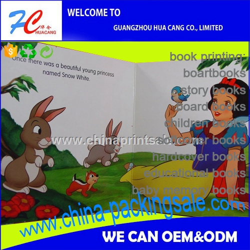 HC professional Photo children reading glossy board hardcover book printing service in china with cheap costs CA1-835