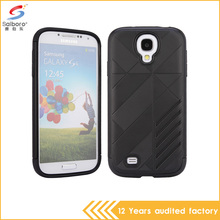 Black color 2 in 1 slim armor shockproof back case cover for samsung galaxy s4 case