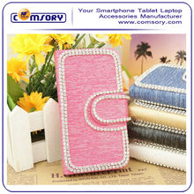 For Apple iPhone5 5S Diamond brushed leather case cover