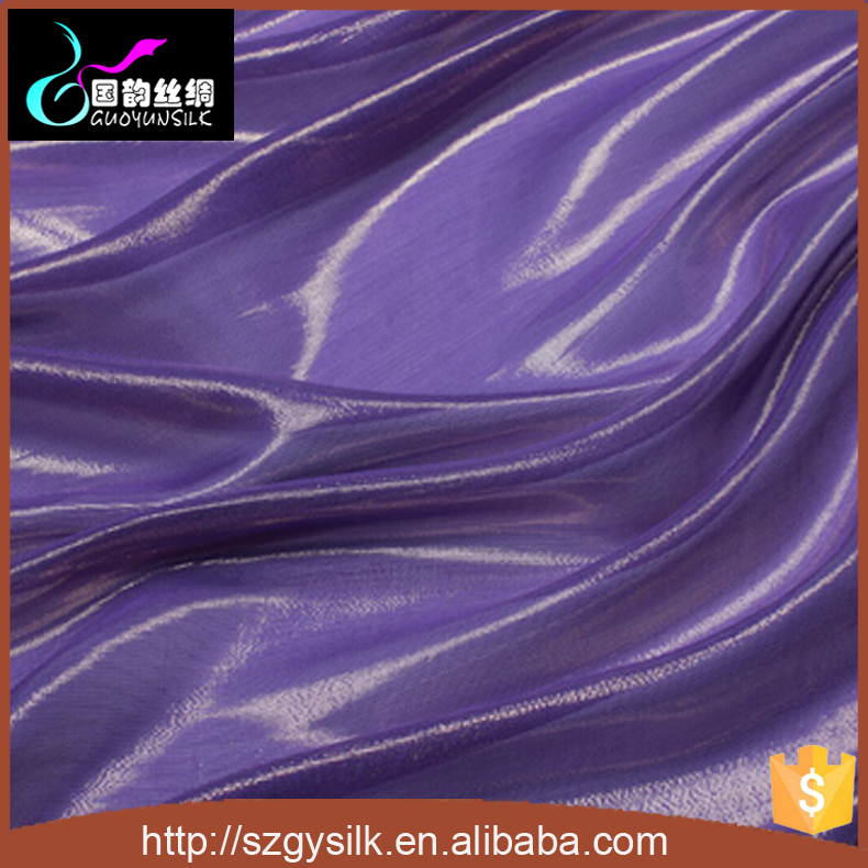 lurex silk silver metallic chiffon fabric
