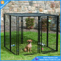 Factory low price galvanized iron large dog cages outdoor dog house
