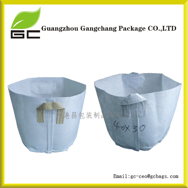 Wholesale white custom size plant nursery bag with mass planting