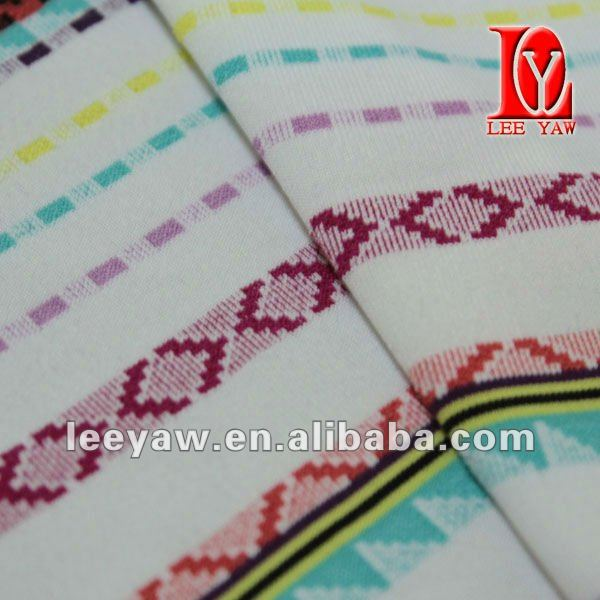 stripe jacquard fabric made of 92% poly and 8% spandex