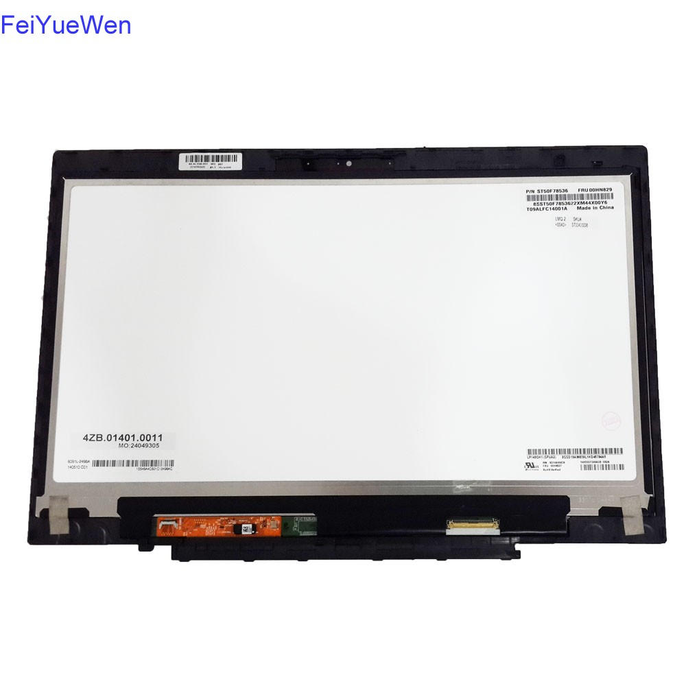 LP140QH1-SPA2 IPS LCD Touch Digitizer Assembly Fit For Lenovo X1 Carbon QHD 14.0 <strong>W</strong>/bezel