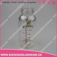240ml clear Milk Glass bottle with calibration