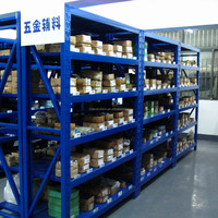 Powder coated Q235B steel shelving