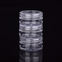 wholesale empty 3ml 5ml plastic clear small jar for cosmetics