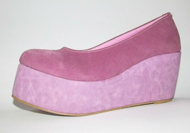 Tatiana Wedges Genuine Suede Leather Shoes