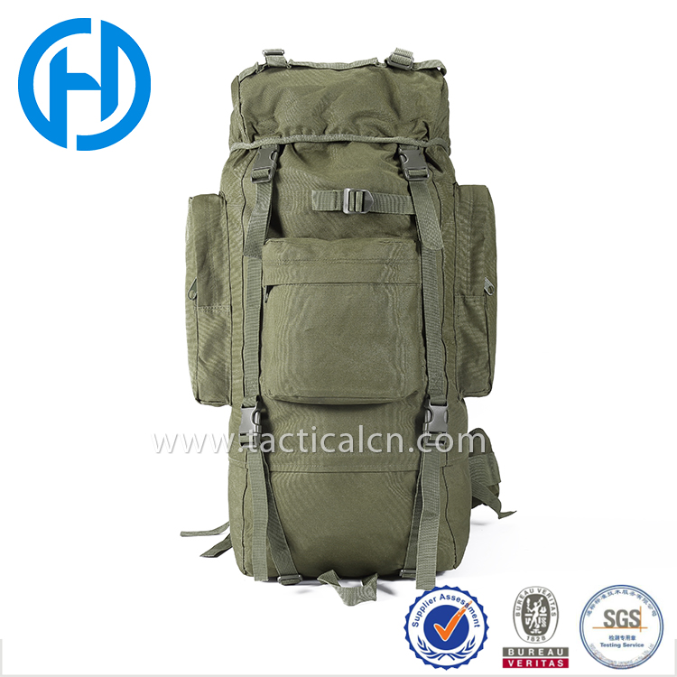 Army green military surplus large back packs