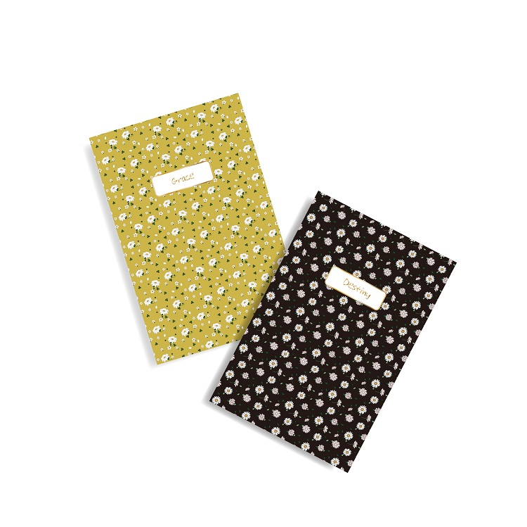 A5 Cheap Bulk Flower Printing Blank Paper Cover Dot Exercise Notebook For School