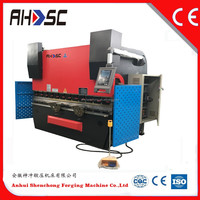 Hot iron plate press brake,WC67Y 2500KN metal bending machine,hydraulic metal press machine for sale