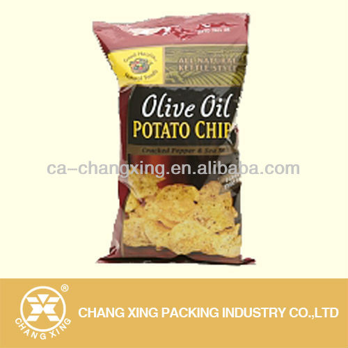 heat seal plastic potato chips packaging bag