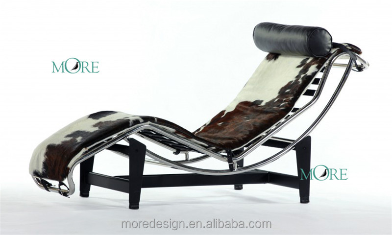 Stilnovo lc4 replica cowhide chaise lounge modern chaise for Chaise lounge cowhide