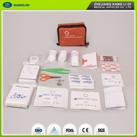 KLIDI Good Quality Camping Used Elastic Bandage Dressing Pad Adhesive Tape Include Waterproof Small First Aid Kit Bag