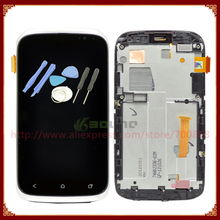100% Test For HTC Desire X T328e LCD Screen With Touch Screen Digitizer + gold/silver/gray Frame Assembly +Tools Free Shipping
