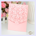 MR074 attractive Rose customizable crafts laser cut invitation card for wedding
