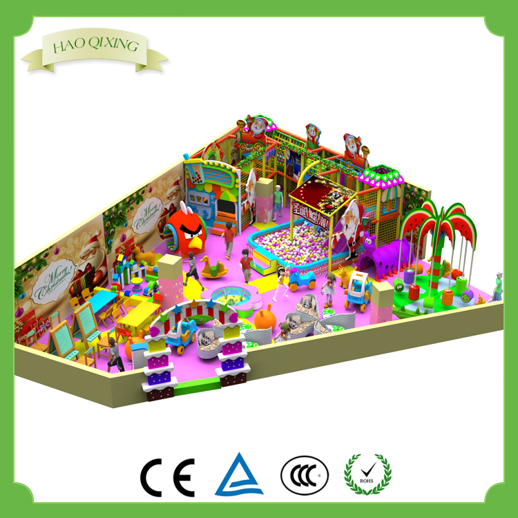 Candy theme children indoor soft play area equipment , children's game system structure