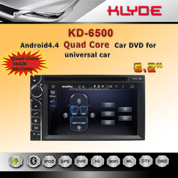 KLYDE Novel Item High Quality Android 4.4 HD Screen Quad core 16GB radio dvd 2 din