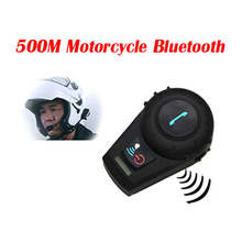 Two-way 3 riders 500M Bicycle/motorcycle helmet bt bluetooth intercom interphone headset BT802 Support Smartphone,/mp3 /GPS