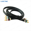 Long life design rca to headphone cable/5 pole 3.5mm plug to 3 rca cable