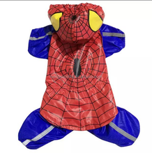 2015 New Style Spider-Man Pattern OEM Big Dog Raincoat Waterproof Fabric PVC Pets Dog Clothes