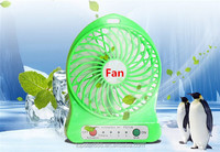 Best design 3 ranges speed portable LED mini fan with USB cable,rechargeable fan