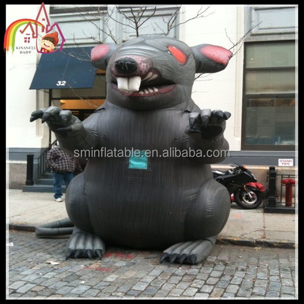 Hot selling outdoor giant inflatable rat model for advertising/inflatable model