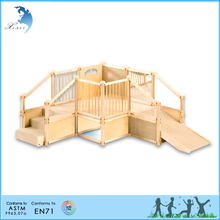 School outdoor kids educational wood montessori soft play equipment