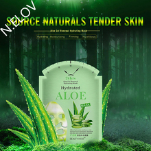 Natural 24hrs Aloe Vera Gel Extract Facial Mask Fashion Renewal Hydrating Repair Sheet Whitening Moisturizing Face Mask For Sale