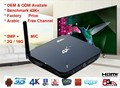 High Performance Android tv box rk3288 with hd4k android quad core tv box 4k 4 USB ports Arm A17 1.8Ghz Mali T764 5G WIFI IR RC