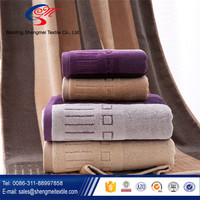 wholesale pure cotton purple luxury bath towel for adult