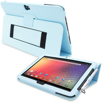 Snugg case for Nexus 10 Case Cover and Flip Stand in Baby Blue Leather
