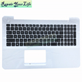 0KN0-R91UI2216025023423 UI Laptop Keyboard for HP X555LD UI language notebook Keyboard Black with white c shell