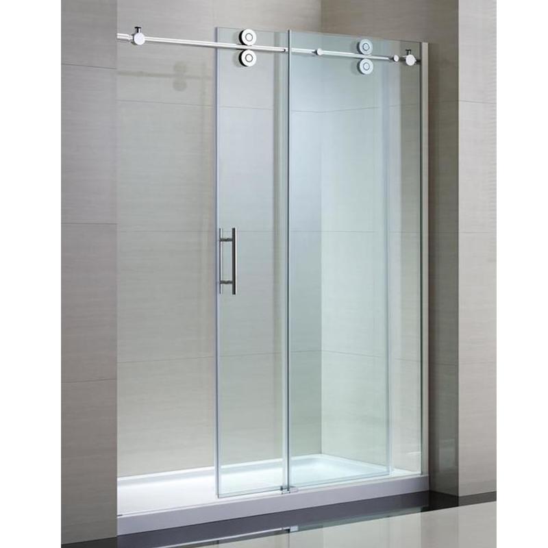 Bathroom Sliding Glass Shower Doors.Double Wheels Bathroom Sliding Glass Door System Frameless Shower Glass Hardware Buy Bathroom Sliding Glass Door Hardware Shower Sliding Door