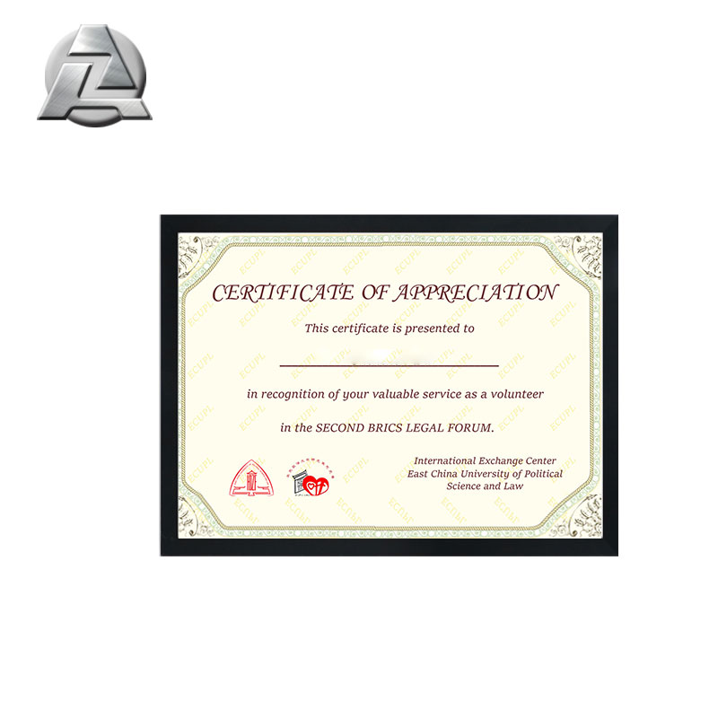 Metal Wall Mounted A4 Certificate Aluminium Moulding Frame Buy A4