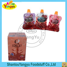 Stand up jelly drinking pouch,Chocolate Jelly Juice