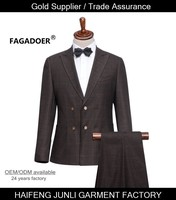 top brand fashion latest design wedding T/R material men blazer suits