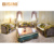 Luxury French Baroque Design New Classic Fabric Living Room Furniture Sofa Set/ Elegant Floral Wooden Hand Carved Sectional Sofa
