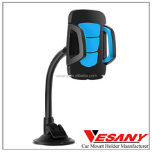Vesany top selling 360 rotation soft pipe universal gooseneck mobile phone holder for car